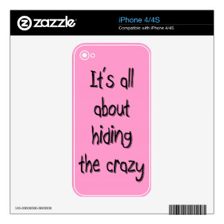 HIDING THE CRAZY SKINS FOR iPhone 4S