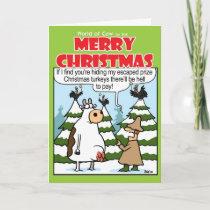 Hiding Turkeys Holiday Card