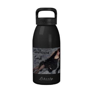 Hidración consciente del medio ambiente oficial de botella de agua