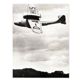 Hidroavión 1935 de Dorneir Tarjeta Postal