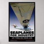 Hidroaviones para el poster de la industria