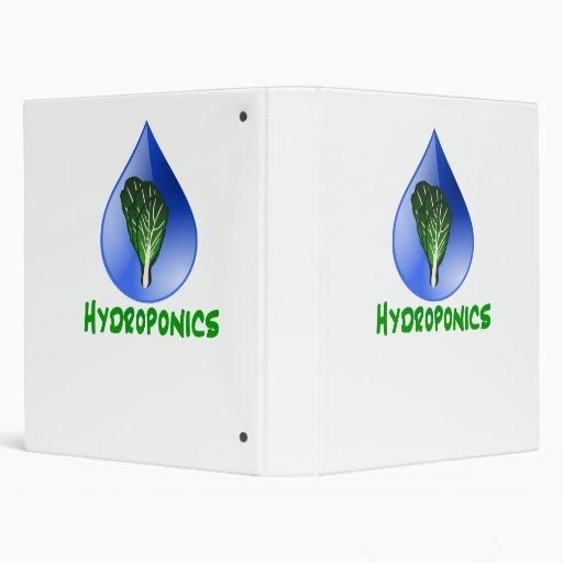 Hidrocultivo, descenso del agua y texto verde de l
