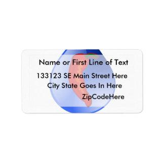 Hidrocultivo, pimienta de chile, diseño azul del t etiqueta de dirección