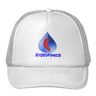 Hidrocultivo, pimienta de chile, diseño azul del t gorras de camionero