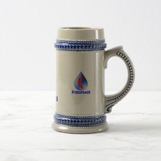Hidrocultivo, pimienta de chile, diseño azul del t tazas