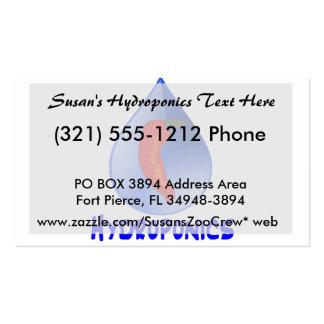 Hidrocultivo, pimienta de chile, diseño azul del tarjetas de visita