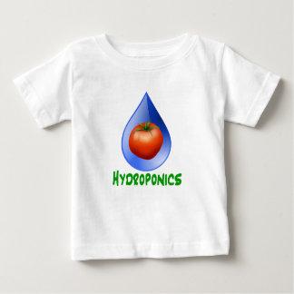Hidrocultivo-Tomate, texto verde, descenso azul Camisas