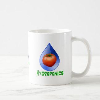 Hidrocultivo-Tomate texto verde descenso azul Tazas De Café