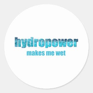 ¡Hidroelectricidad mojada! Pegatinas Redondas