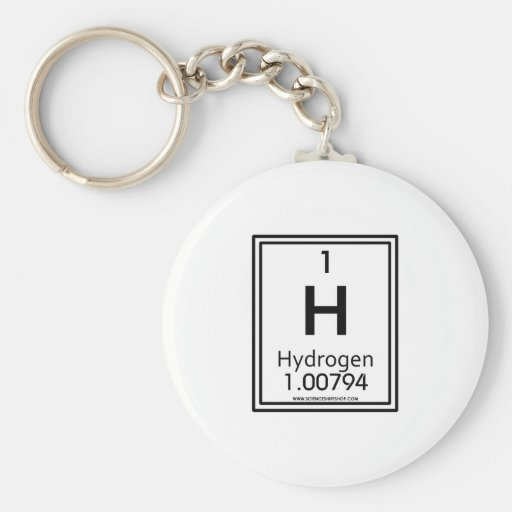 Hidrógeno 01 llavero redondo tipo pin