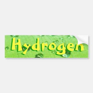 Hidrógeno Pegatina De Parachoque