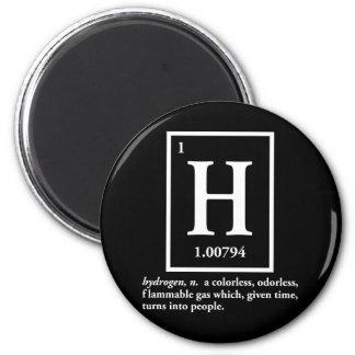 hidrógeno - un gas que da vuelta en gente imán redondo 5 cm