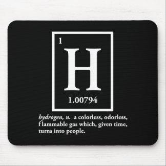 hidrógeno - un gas que da vuelta en gente alfombrilla de raton