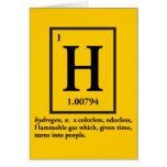 hidrógeno - un gas que da vuelta en gente felicitaciones
