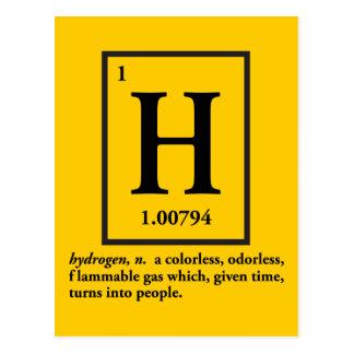 hidrógeno - un gas que da vuelta en gente tarjeta postal