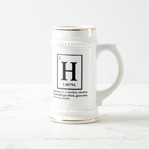 hidrógeno - un gas que da vuelta en gente taza