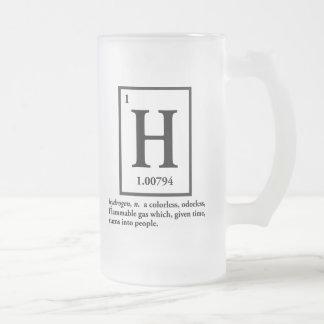 hidrógeno - un gas que da vuelta en gente taza de café