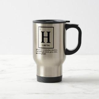 hidrógeno - un gas que da vuelta en gente taza de viaje