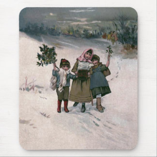 """Hie for Christmas"" Vintage Mouse Pad"