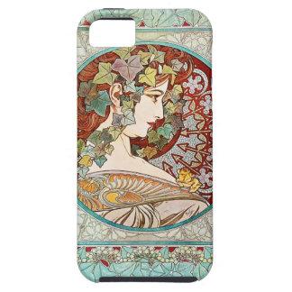 Hiedra - caso del iPhone 5 de Alfonso Mucha iPhone 5 Protectores