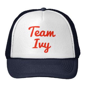 Hiedra del equipo gorras
