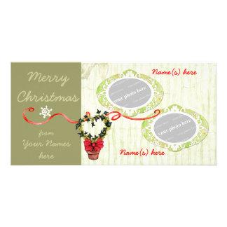Hiedra del navidad tarjetas personales con fotos