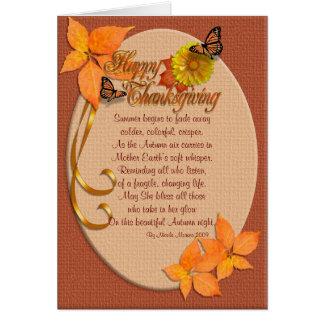 Hiedra del otoño de la tarjeta de la acción de gra