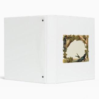 """Hiedra del vintage bonito y frontera en blanco carpeta 1"""""""
