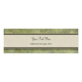 Hiedra florentina de la acuarela con el monograma tarjetas de visita mini