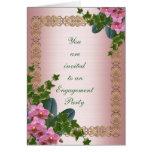 Hiedra y orquídeas de la invitación del fiesta de  tarjetas