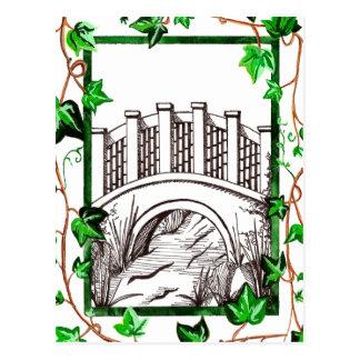 Hiedra y puente tarjeta postal
