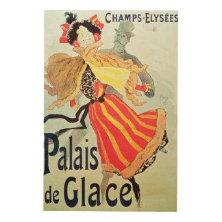 Hiele a los campeones Elysees, París, 1893 de Pala Cuadro De Madera