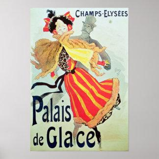 Hiele a los campeones Elysees, París, 1893 de Pala Póster