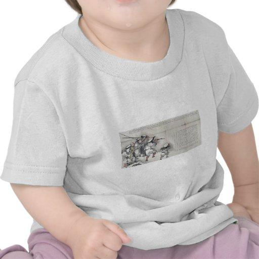 Hiele el viaje de pesca por Taki, Katei Ukiyoe Camiseta