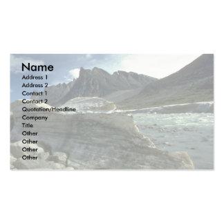 Hiele en la línea de la playa del río de la comadr tarjeta de visita