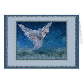 Hiele la tarjeta de felicitación del ángel, ajuste