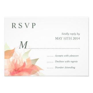 Hielo anaranjado 2 florales de RSVP - simple Comunicados Personales