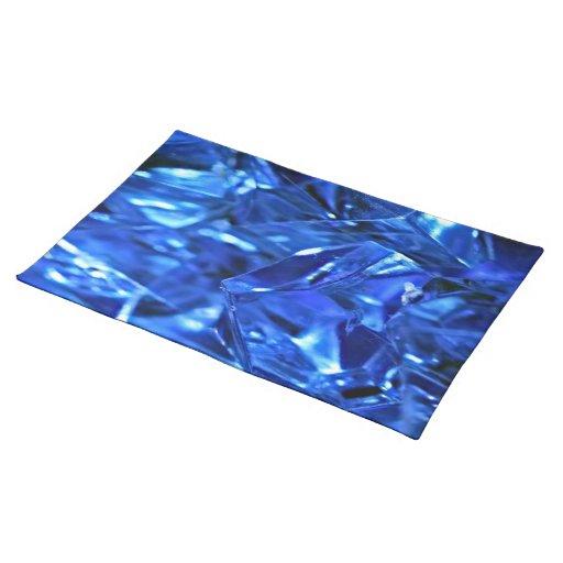 Hielo azul manteles individuales