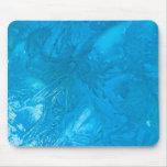Hielo azul Mousepad Tapetes De Raton