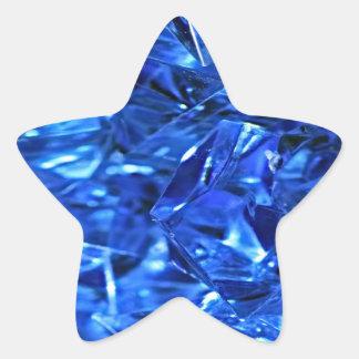 Hielo azul pegatina en forma de estrella