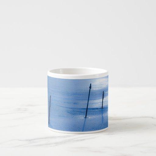 Hielo azul sin fin taza espresso