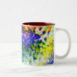 Hielo coloreado taza