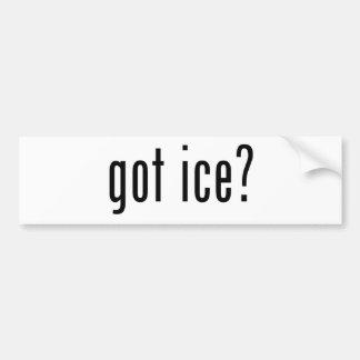 ¿hielo conseguido pegatina de parachoque