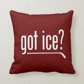 ¿hielo conseguido? cojines
