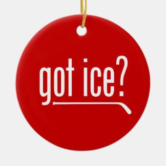 ¿hielo conseguido? (hockey) adorno navideño redondo de cerámica