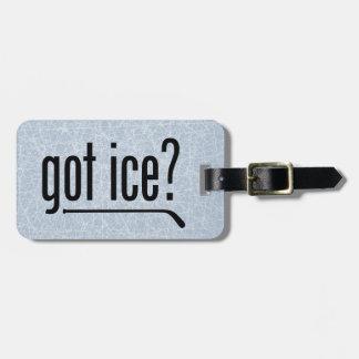 ¿hielo conseguido? (hockey) etiquetas para maletas