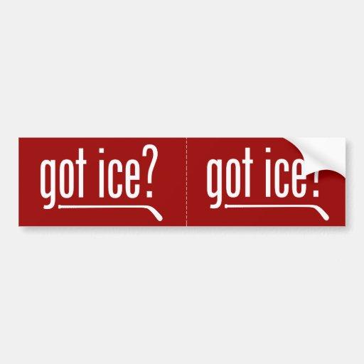 ¿hielo conseguido? pegatina de parachoque