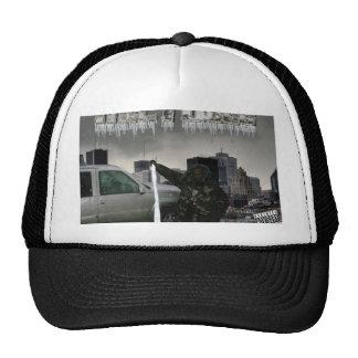 Hielo de colada en juego gorras