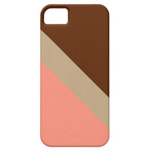 HIELO DE GEOSTRIPS CHOCO iPhone 5 Case-Mate CARCASA