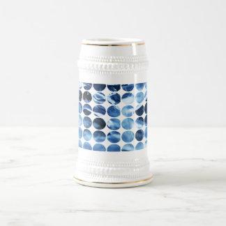 Hielo del azul de los lunares del invierno tazas de café